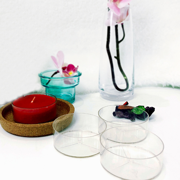 PC45 round tealight candle container