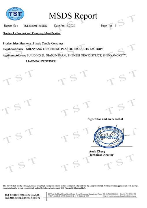 MSDS product transportation safety