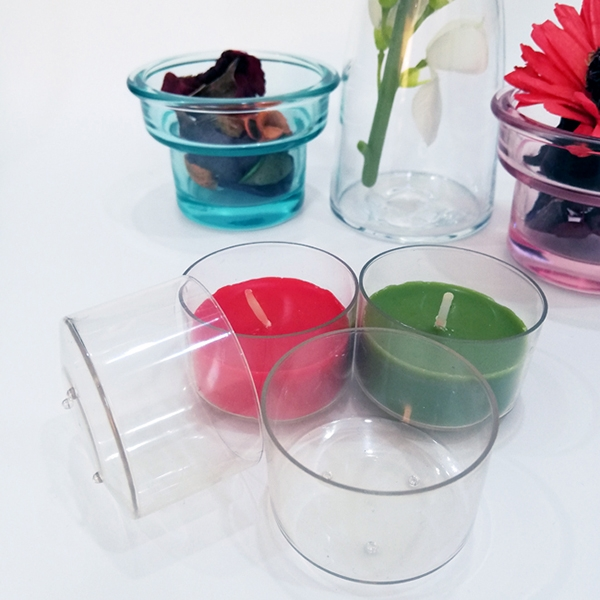 PC110 transparent flame retardant plastic tea wax cup