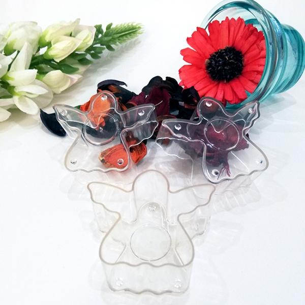 PC108 angel shaped plastic tea wax shell