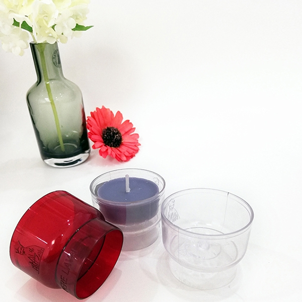 PC105 cup shaped transparent plastic tea wax shell