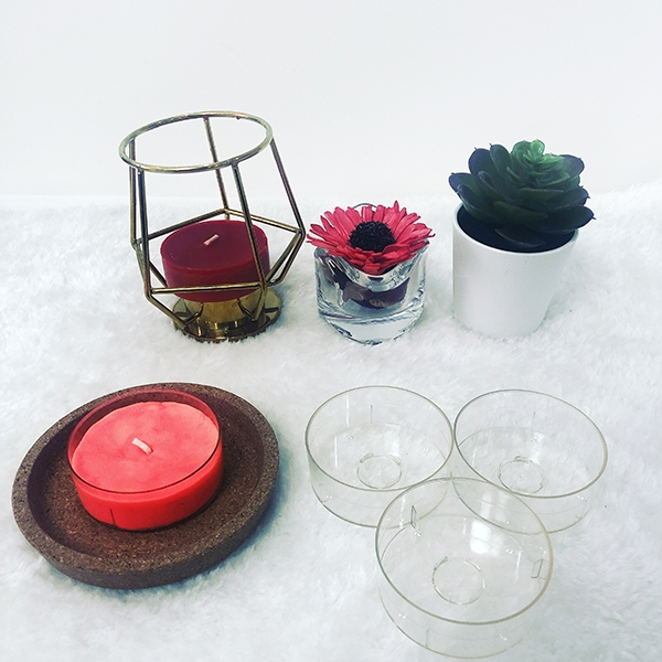 PC65 round tealight candle container