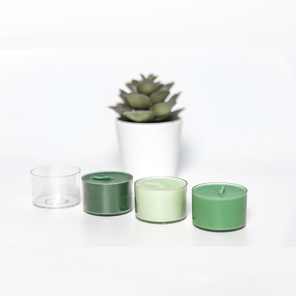 PC14 transparent plastic candle shell