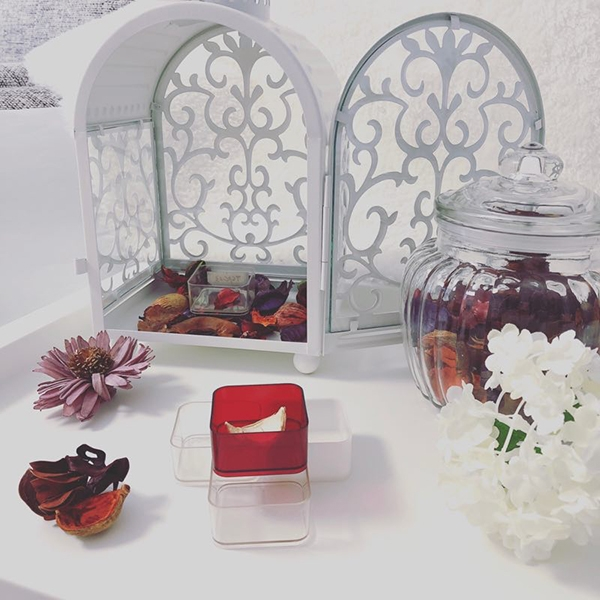 PC13 square plastic candle shell
