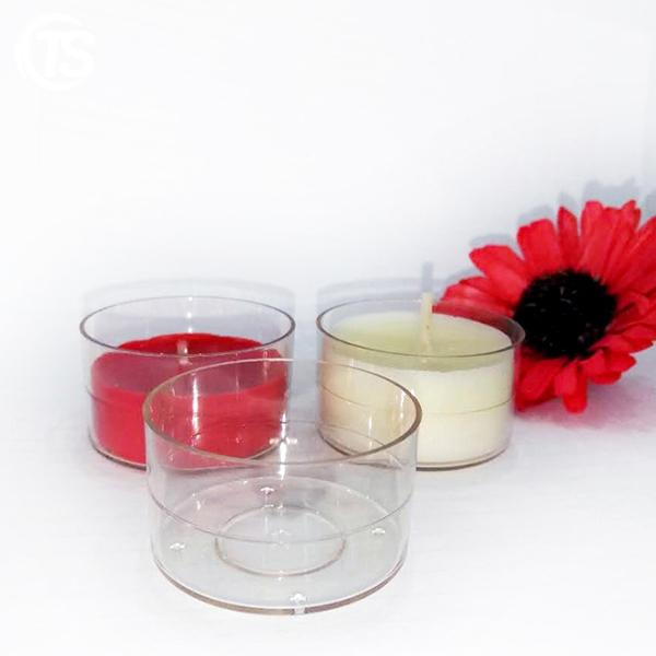 PC2 transparent plastic tealight candle cup