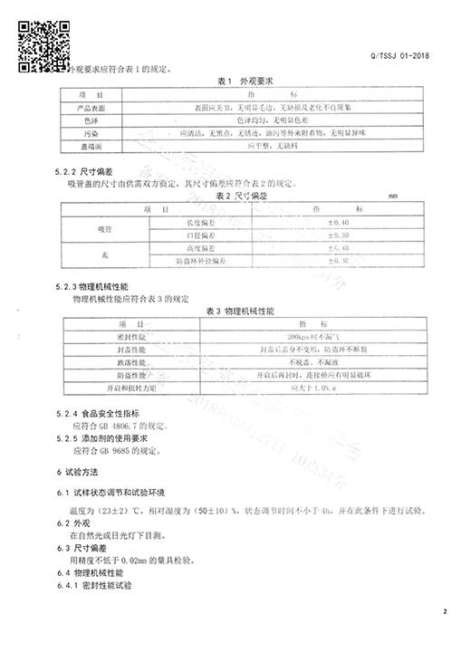 Nozzle QS certification (food grade)